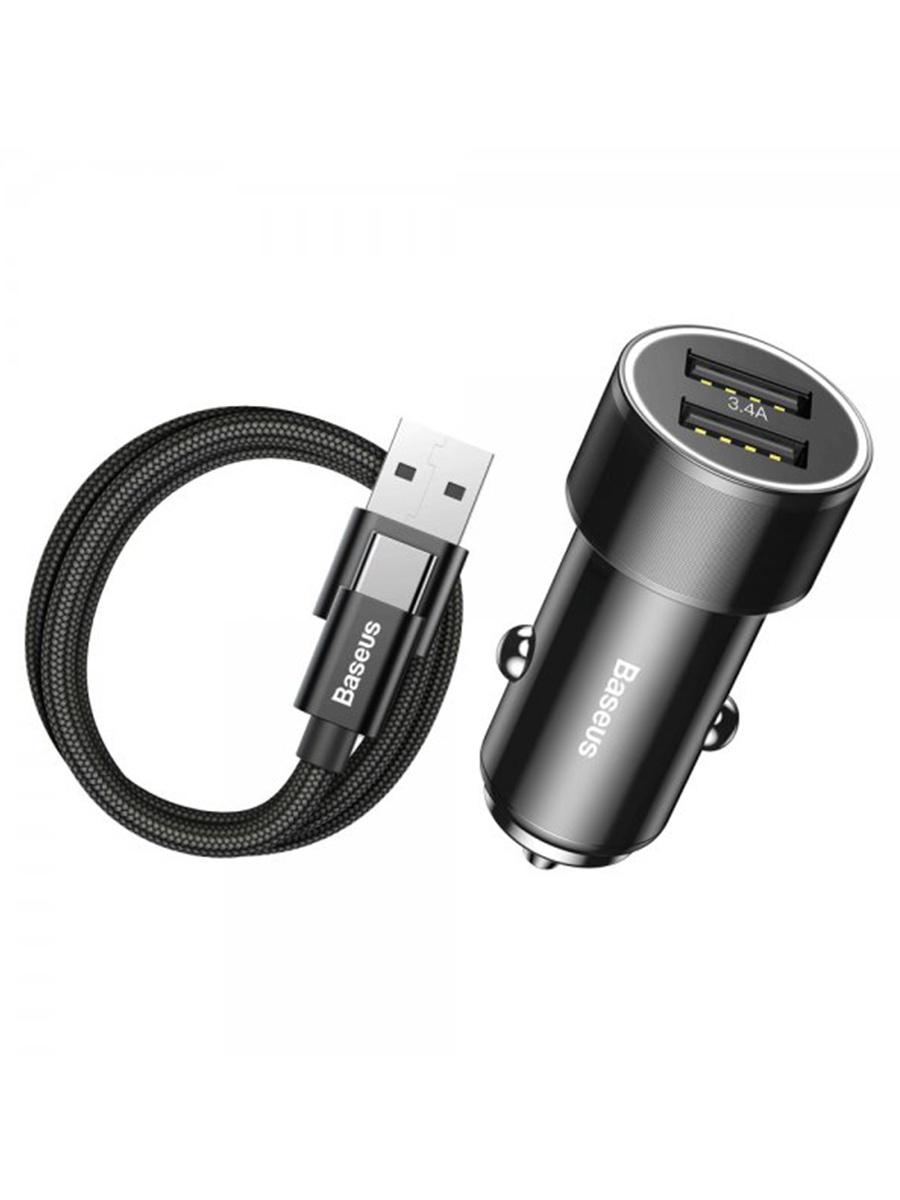 Азу 2USB+кабель USB-Type-C Baseus TZXLD-B01 1m Black effect of different types of litter on broiler performance