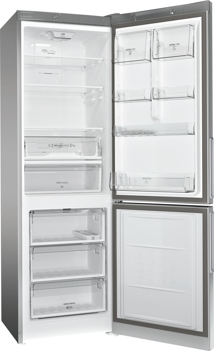 Холодильник Hotpoint-Ariston HF 4181 X, двухкамерный, нержавеющая сталь Hotpoint-Ariston