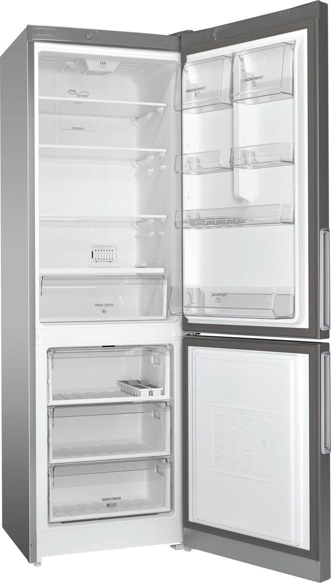 Холодильник Hotpoint-Ariston HF 4180 S, двухкамерный, серебристый металлик Hotpoint-Ariston