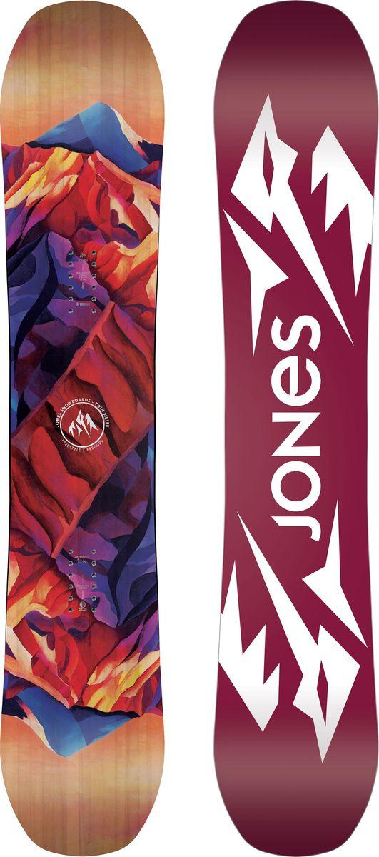 Сноуборд женский Jones Twin Sister, 7640178032453, ростовка 143 см7640178032453Twin Sister - это доска для сноубордисток, всегда старающихся выбрать самую красивую и креативную линию спуска. Уникальное сочетание шейпа и внутренней структуры уже восемь лет помогают самым отчаянным райдерам раскатывать горы так же легко как соседский скейтпарк. Поднятые нос и хвост удержат на плаву в глубоком снегу и не дадут кантам зацепиться на джибовой фигуре, а классический кембер между закладными и Traction Tech удержат на ледяной стене пайпа или на задутой корке высокогорного снега. Материал верха создан на основе касторовых бобов, и это не просто дань экологии, а поверхность, к которой не прилипает снег. Особенности: - Camrock - уникальное сочетание жесткости и профиля, при котором рокер на носу и хвосте равномерно сбалансирован, а между креплениями сохранен классический прогиб, он позволяют катать как в своей стойке, так и в свитче, а кембер между закладными сохраняет мощь и щелчок в центре доски - Traction Tech - подобно ножу с серрейторной заточкой в снегу, Traction Tech увеличивает хваткость кантов добавляя больше контактных точек со склоном по всей рабочей длине доски - Progressive Sidecut - от середины к концам сноуборда радиус бокового выреза постепенно увеличивается, по мере приближения к контактным точкам - такое плавное увеличение радиуса к носу и хвосту делает вход в поворот более мягким и предсказуемым, без резкого переброса в перекантовку - Blunt Nose - как доска проходит свежий снег, тонкий задутый наст или ледяную корку полностью решается в передней ...