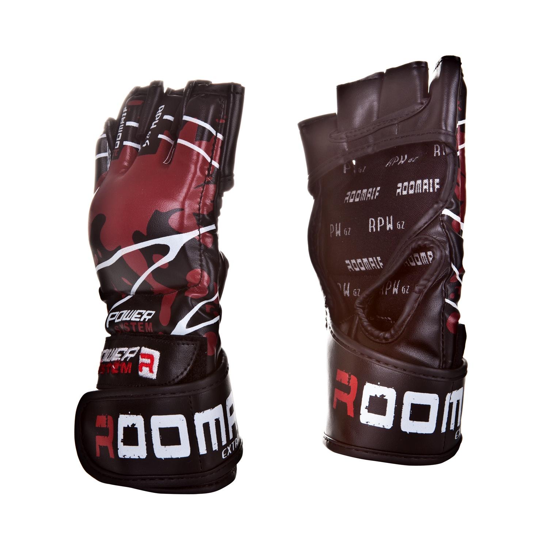 Перчатки для смешанных единоборств Roomaif ММА RBG-151 Dx, RBG-151-01, черный, размер S