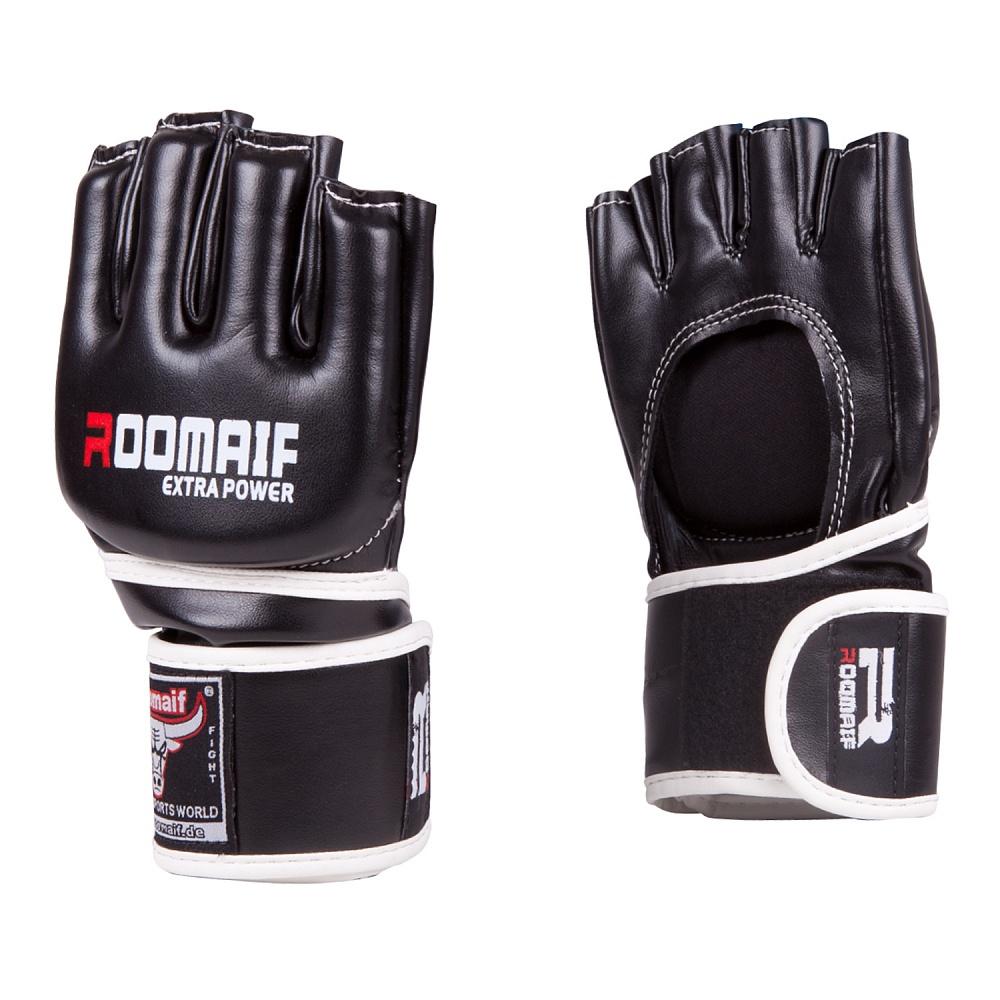 Перчатки для смешанных единоборств Roomaif ММА, RBG-115-01, черный, размер S