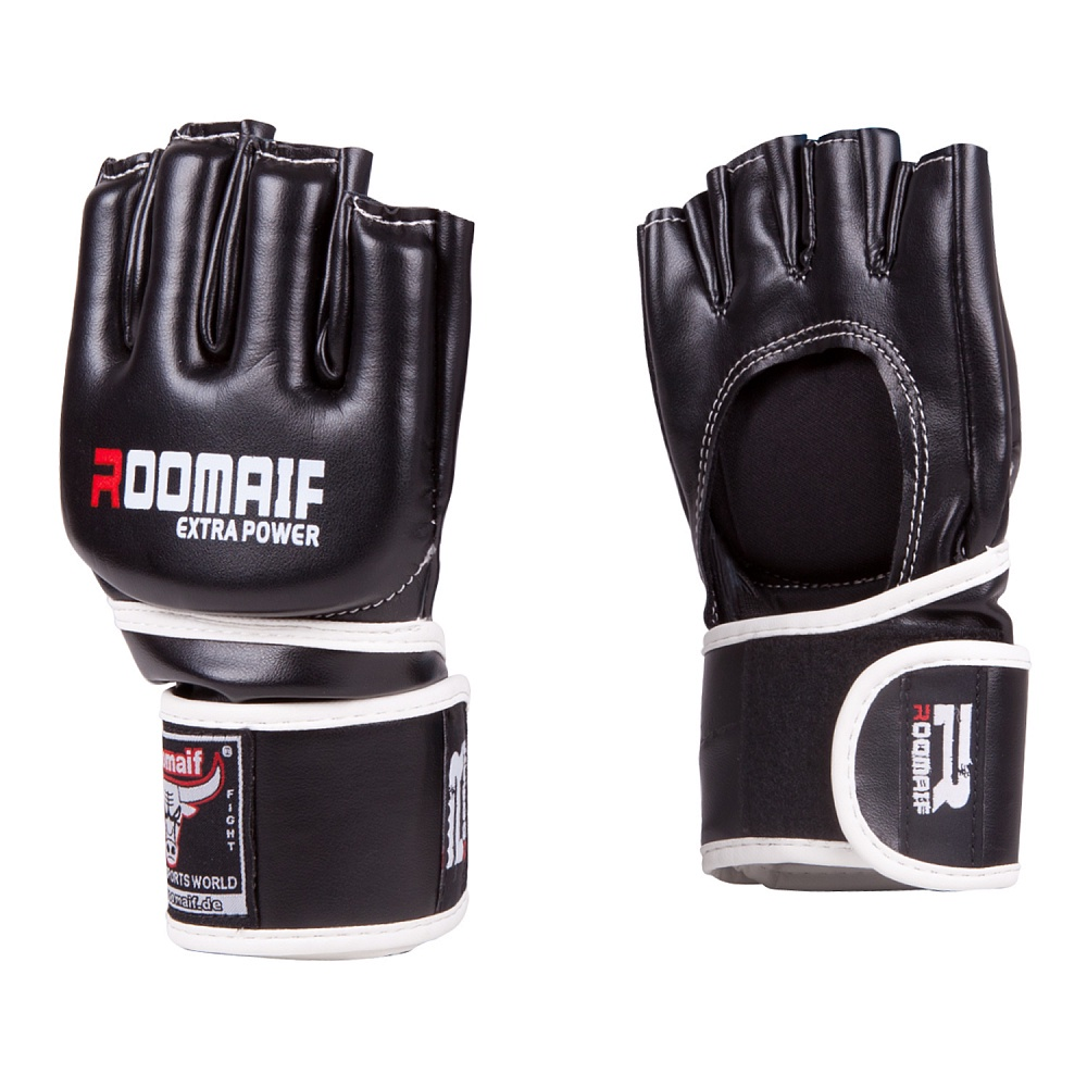 Перчатки для смешанных единоборств Roomaif ММА, RBG-115-02, черный, размер M