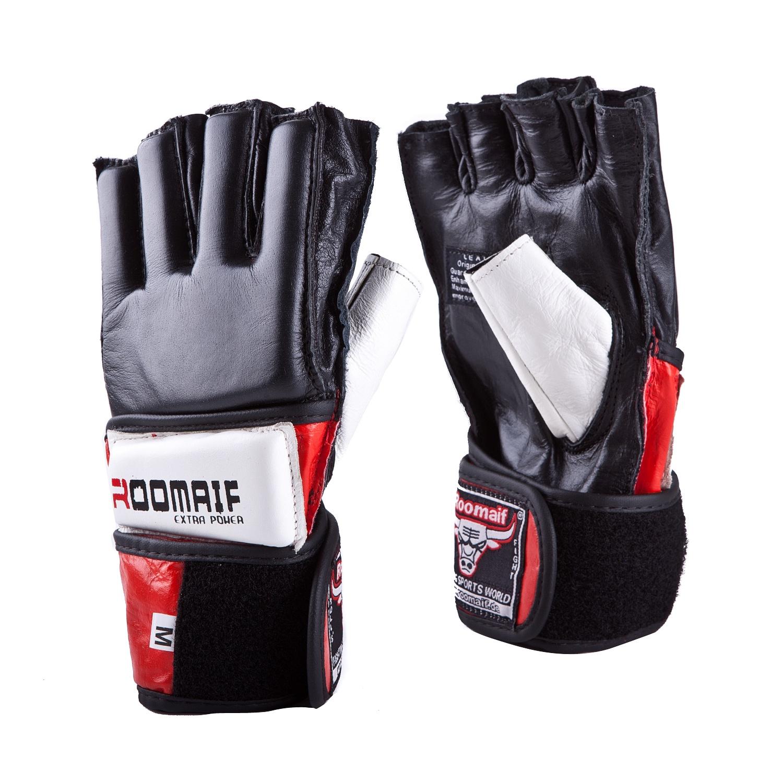 Перчатки для смешанных единоборств Roomaif ММА, RBG-114-01, черный, размер S