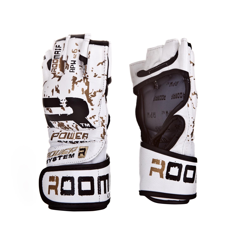 Перчатки для смешанных единоборств Roomaif ММА, RRBG-153-01, белый, размер S