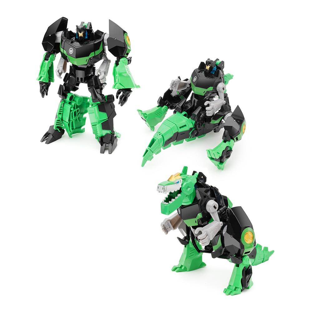 Робот-трансформер FindusToys Deformation Динобот Гримлок, FD-10-018, зеленый, черный transformers robots in disguise strongarm