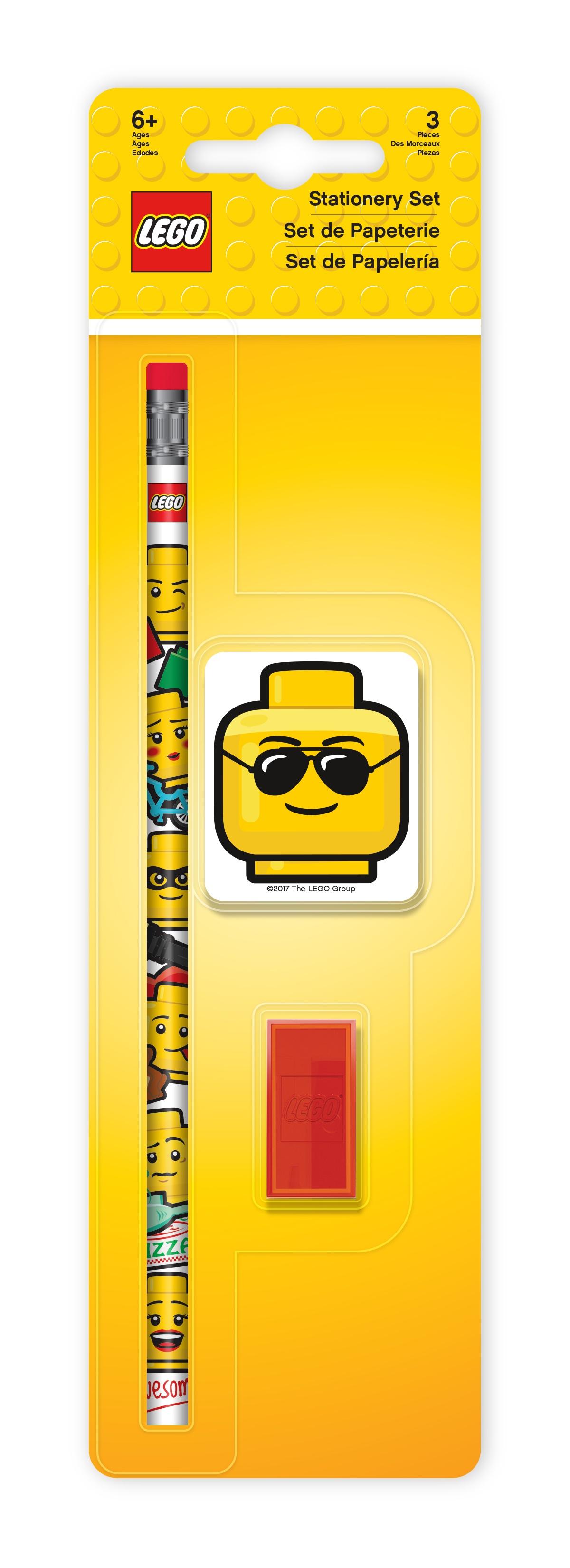 Набор канцелярский: 1 карандаш, 1 точилка, 1 ластик LEGO академия групп набор канцелярский точилка ластик тачки