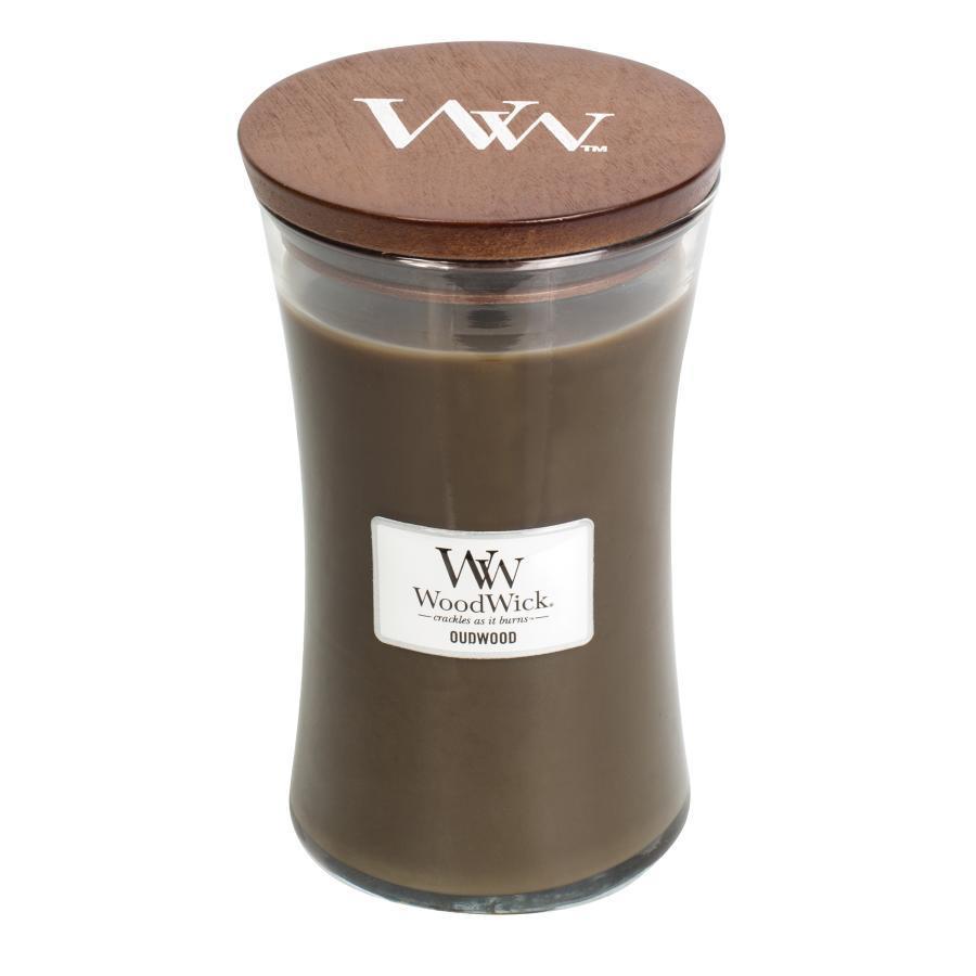 Свеча ароматическая WoodWick Дерево, большая, 93247, коричневый ароматическая свеча woodwick закат на пляже чаша