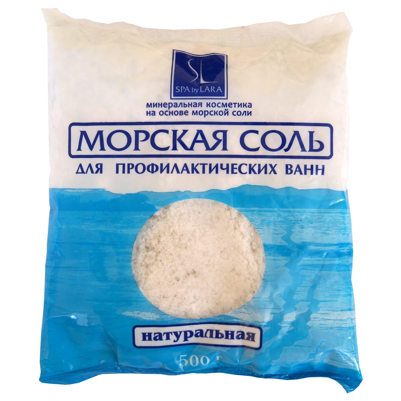 Соль морская Spa by Lara для ванн натуральная 500г недорого