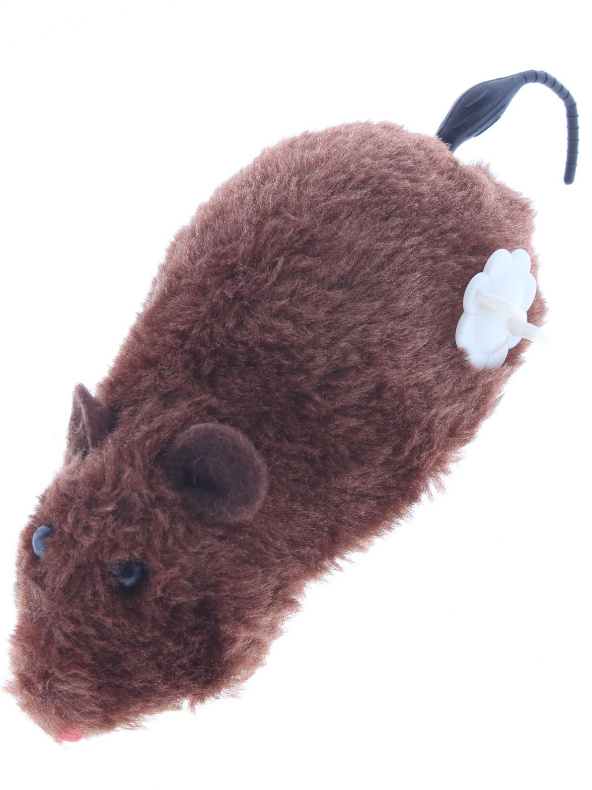 Игрушка для кошек Зоомания Мышь заводная 7426936736999, коричневый игрушка hamleys заводная для ванной кит