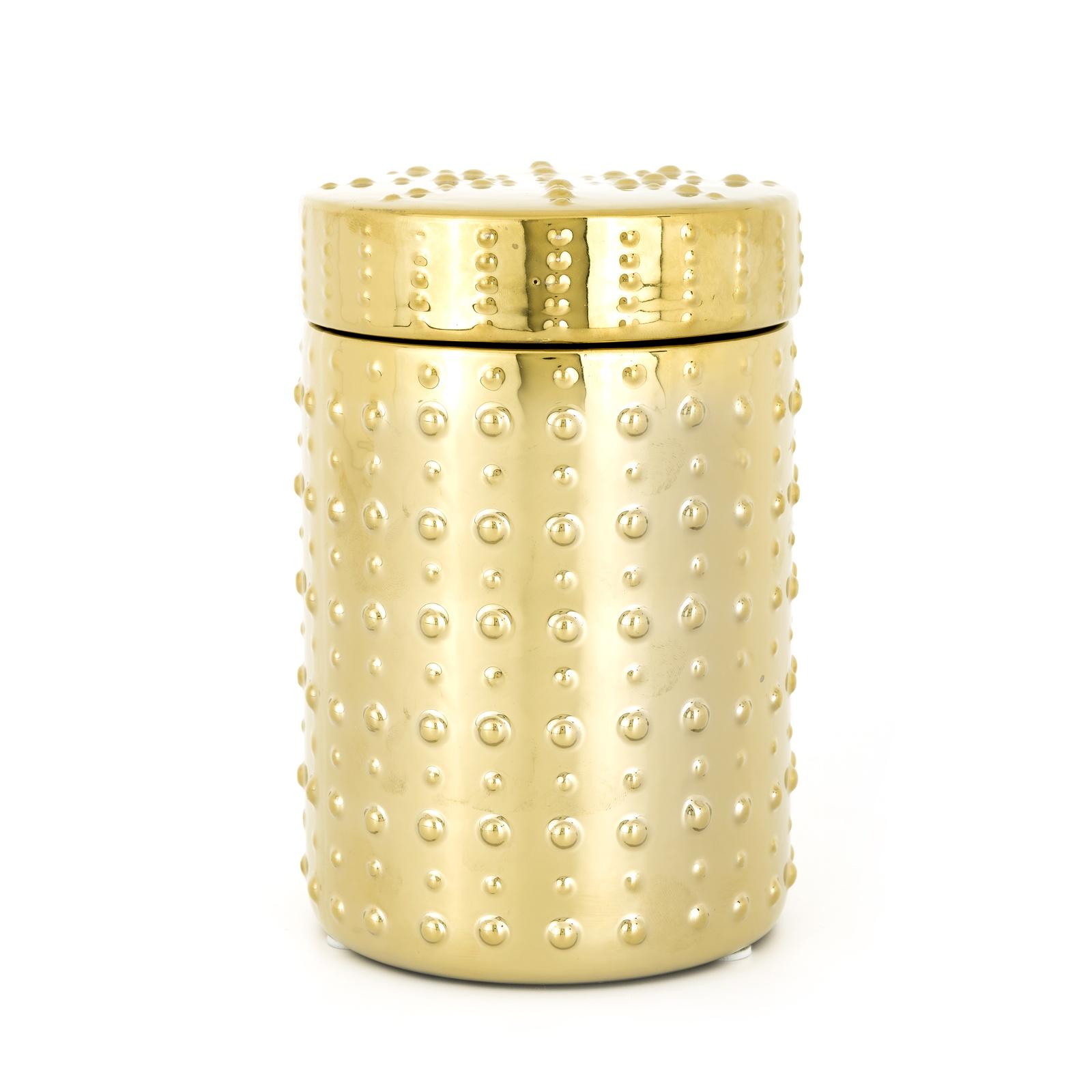Декоративный сосуд Richmond Interiors Goldy, KP-0027, золотой, 18.5х12.5 смKP-0027Материал: керамика. Размер: длина 18.5, ширина12.5, высота 12.5. Цвет: золотой