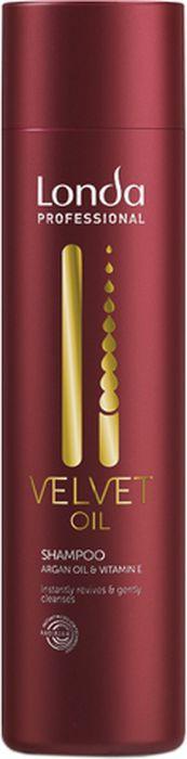 Шампунь для волос Londa Professional Velvet Oil с аргановым маслом, 250 мл londa velvet oil кондиционер с аргановым маслом 250 мл