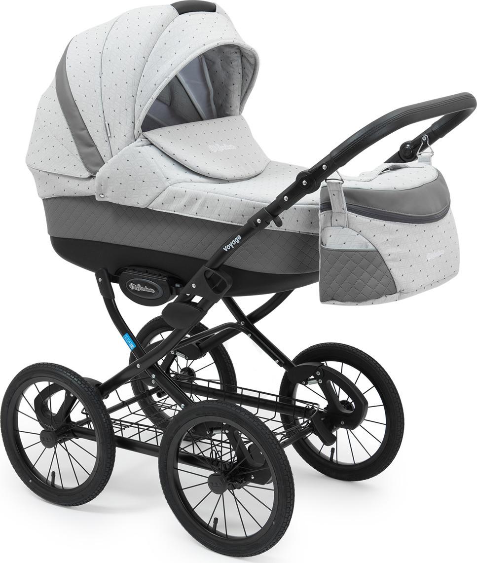 Коляска-люлька Mr Sandman Voyage Premium, цвет: серый, светло-серый коляска mr sandman guardian 2 в 1 графит серый kmsg 043601