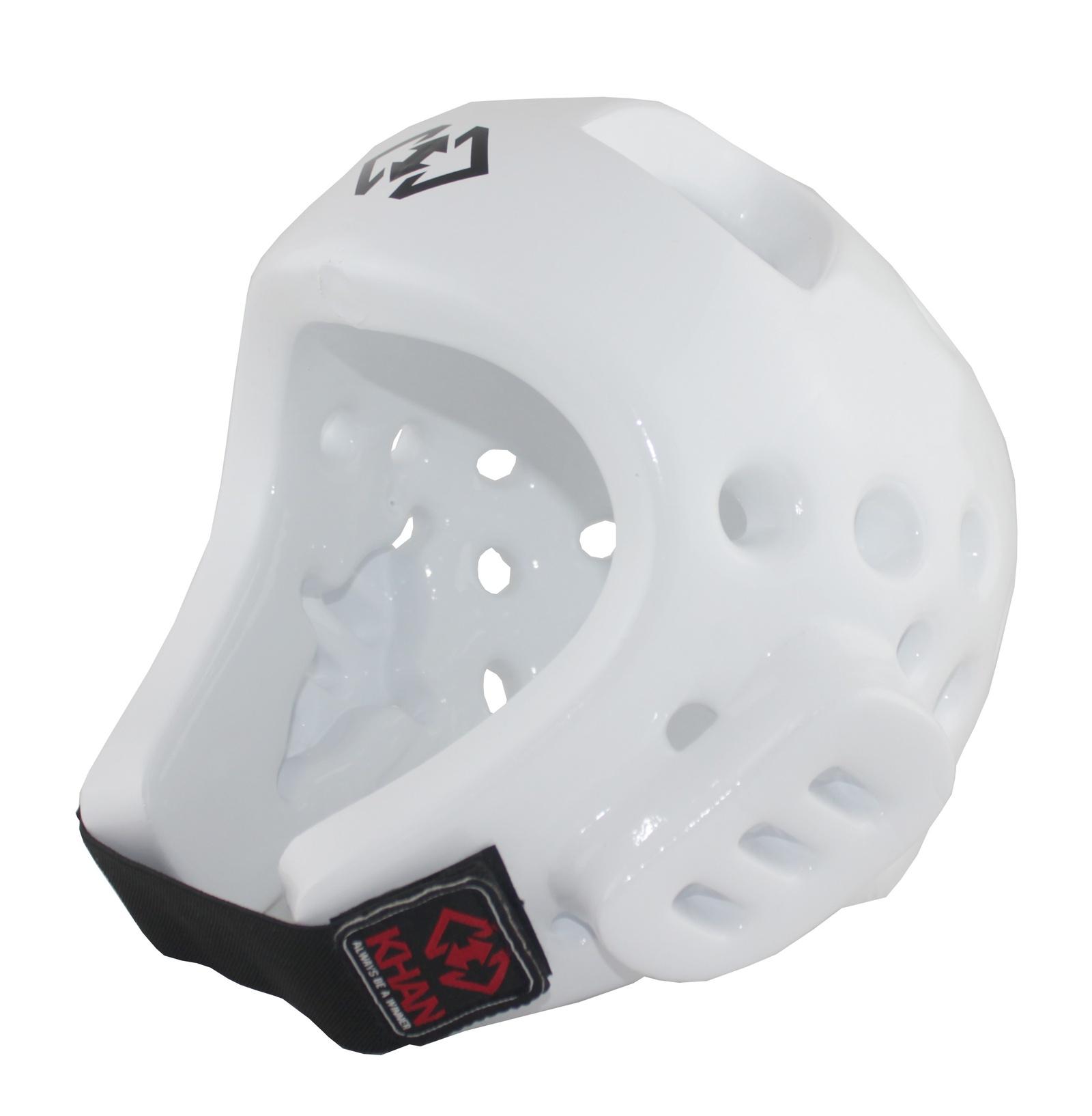 Шлем для тхэквондо Khan Защита головы (шлем) Khan Club белый, цвет: белый. E1106801_2. Размер S, E1106801_2 цена и фото