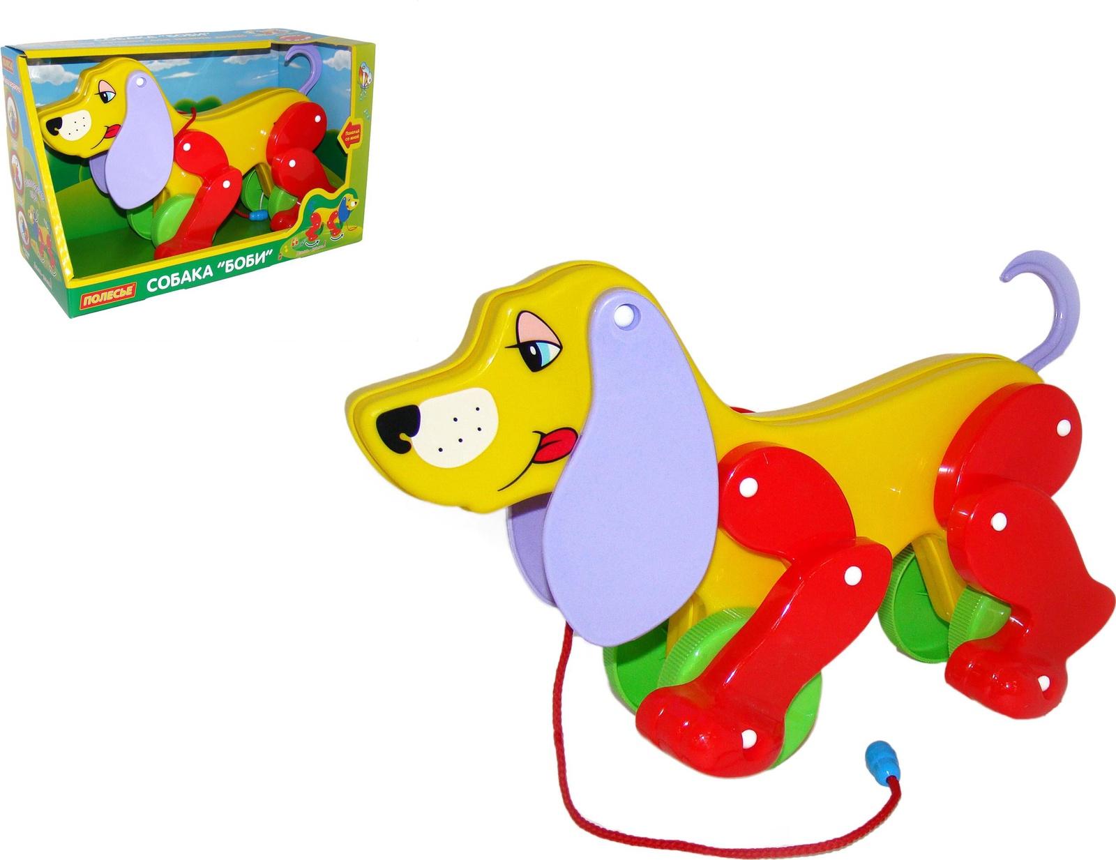 Собака-каталка Боби (в коробке) каталки s s каталка динозавр