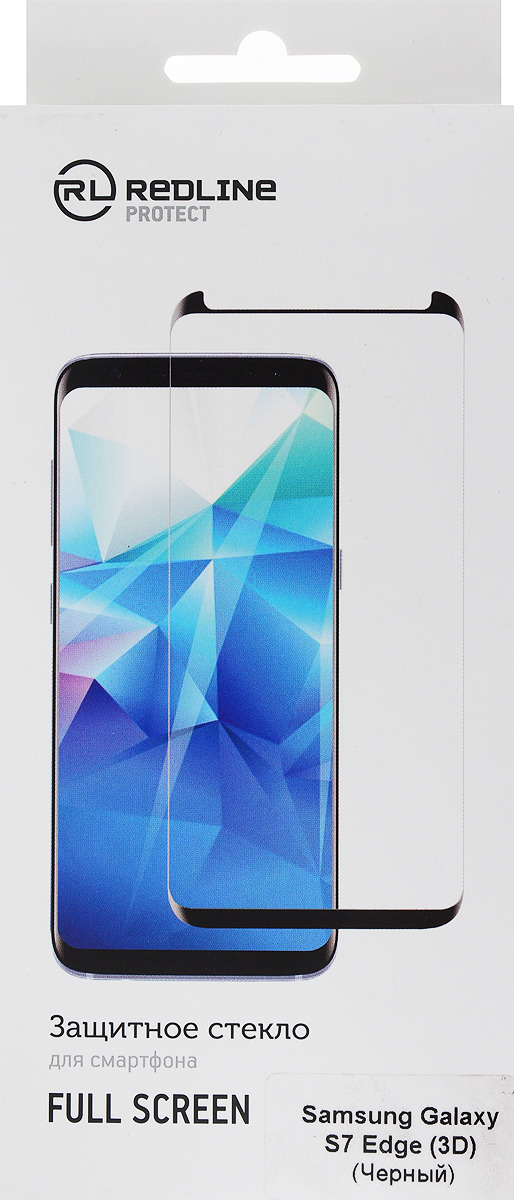 Red Line защитное стекло для Samsung Galaxy S7 Edge, Black (3D) защитные стекла и пленки red line 0 33mm для samsun galaxy a3 2017 black