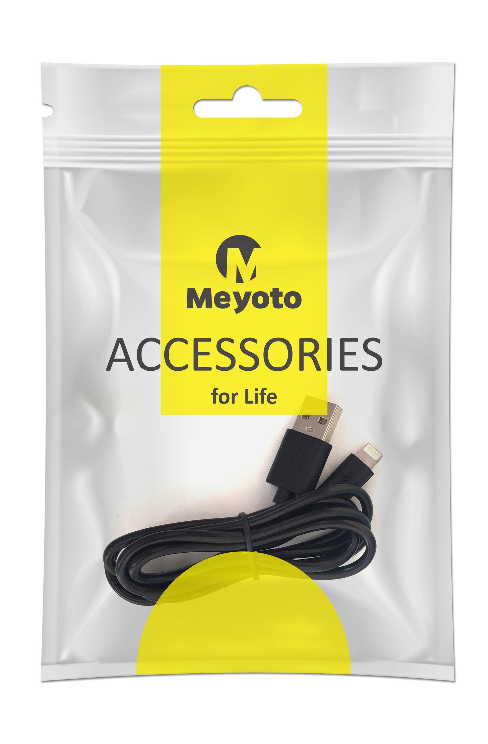 цена на Кабель Meyoto Кабель для зарядки и передачи данных iphone lightning, черный