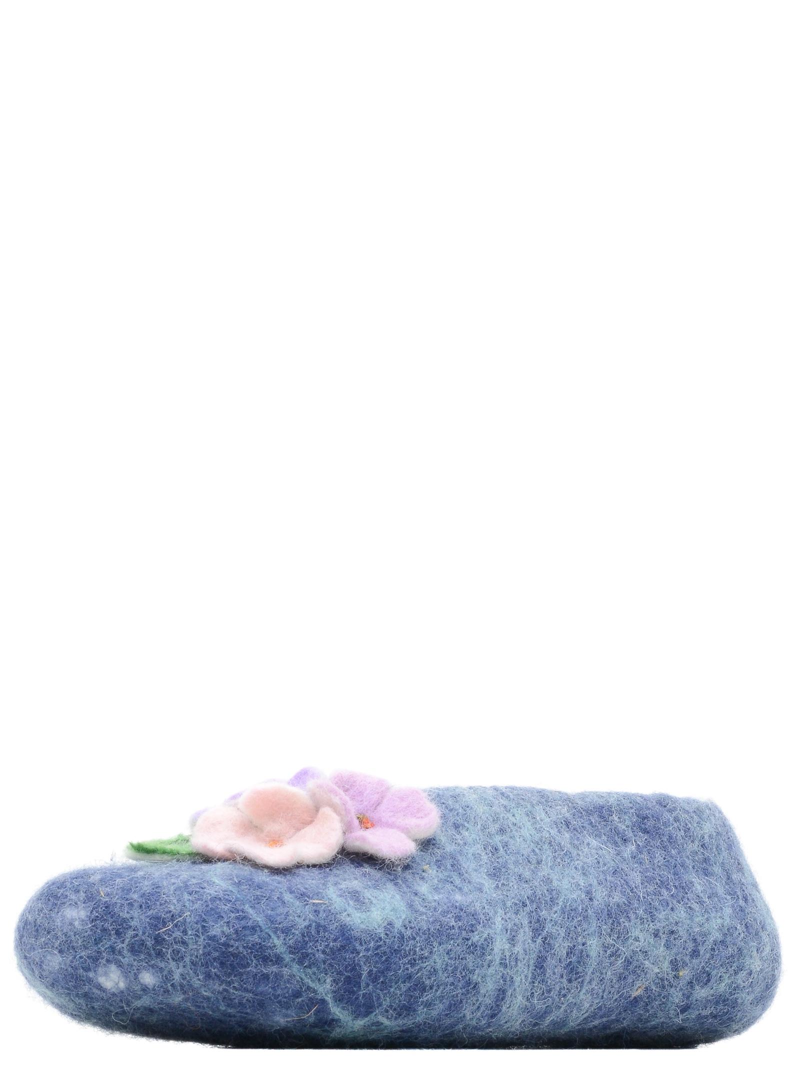 Тапочки Gewenst BA-Z002-39 темно-синий, мята, 39 размерBA-Z002-35Тапочки ручной работы из овечьей шерсти Австралийского мериноса.