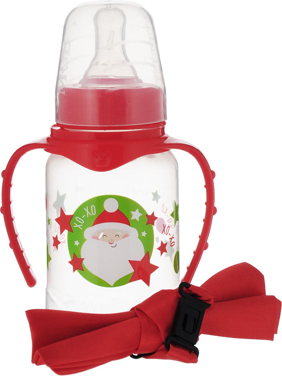 Набор Mum&Baby Дед Мороз бутылочка для кормления, 150 мл + бабочка на шею, 3654387 для кормления малыша