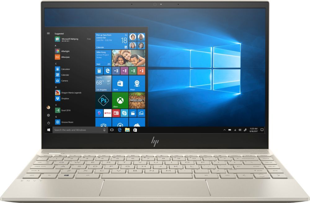 13.3 Ноутбук HP Envy 13-ah0005ur 4GX46EA, золотистый ноутбук hp envy 13 ad109ur 2pp98ea 13 3 золотой