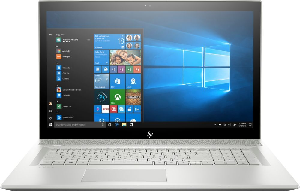 Фото - 17.3 Ноутбук HP Envy 17-bw0001ur 4HD46EA, серебристый 14 дюймовый тонкий и легкий ноутбук hp pavilion 14 bf108tx только i5 8250u 4g 256gssd 940mx 2g fhd ips silver