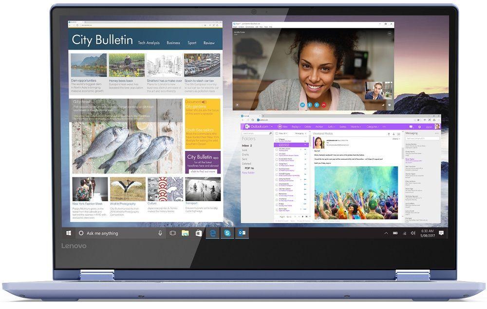 Ноутбук Lenovo Yoga 530-14IKB, 81EK008XRU, 14, синий 99% new for lenovo yoga 4 pro yoga 900 lcd back cover am0yv000100 am0yv000110 am0yv000120
