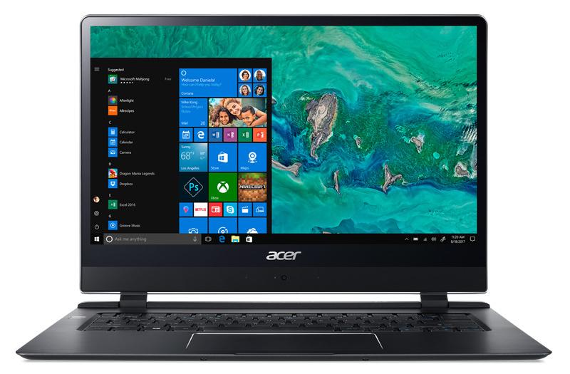 14 Ноутбук Acer Swift 7 SF714-51T NX.GUHER.002, черный ноутбук уходит в спящий режим сам windows 10