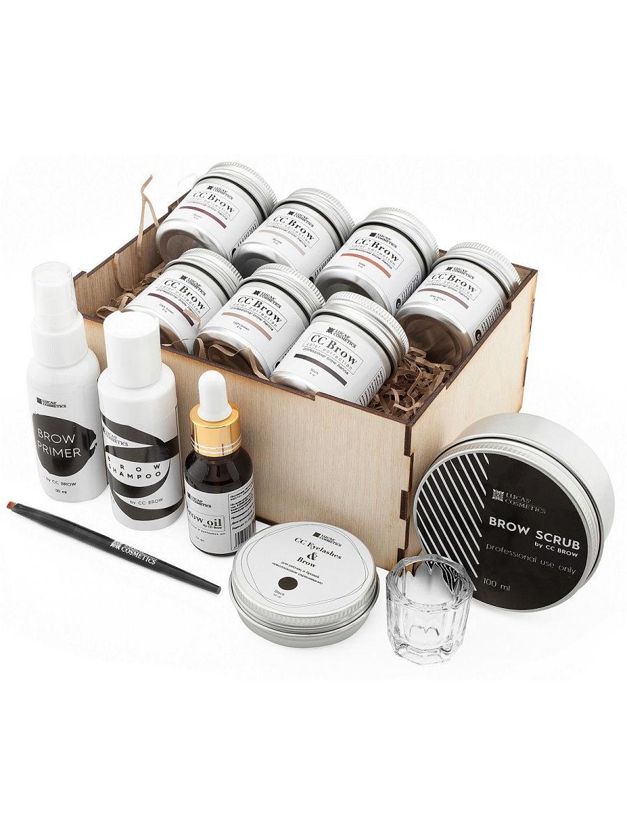 Набор для окрашивания хной CC Brow №2, 1991-00125 lucas cosmetics набор для окрашивания хной cc brow 2 в баночках 750 гр