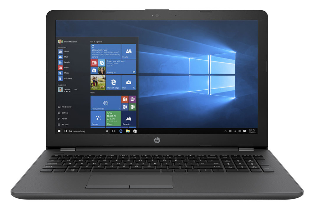 15.6 Ноутбук HP 250 G6 3QM27EA, серебристый ноутбук hp 15 da0077ur i3 7020u 4gb 500gb 620 15 6 sva hd w10 blue