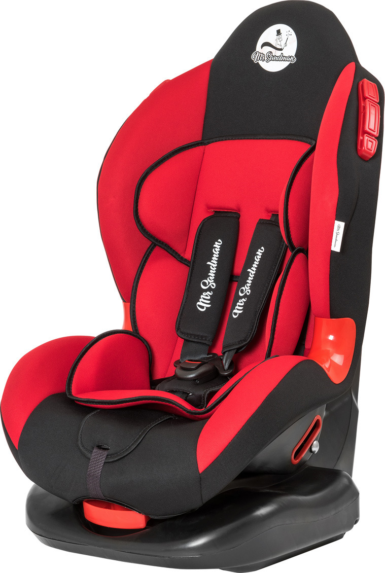 Автокресло Mr Sandman Future, KRES0998, от 9 от 0 до 25 кг, черный, красный