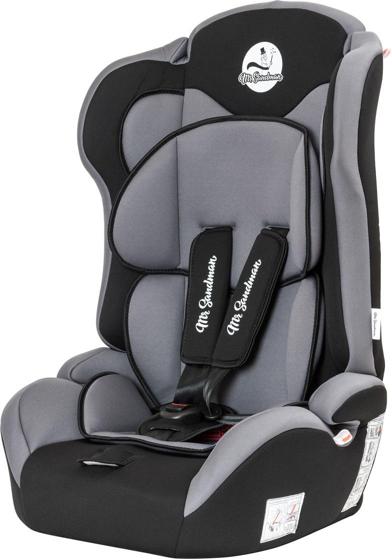 Автокресло Mr Sandman Safe Road, KRES1007, от 9 до 36 кг, черный, серый автокресло mr sandman safe road черный синий