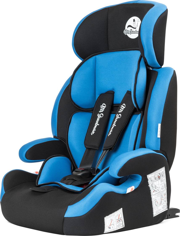 Автокресло Mr Sandman Good Luck Isofix, KRES1016, от 9 до 36 кг, черный, синий автокресло mr sandman barcelona isofix черный синий amsvbi 0659kres1733