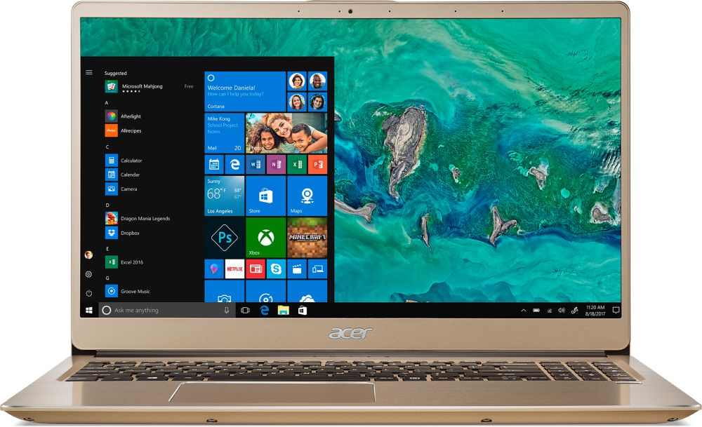 Ноутбук Acer Swift 3 SF315-52G NX.GZCER.002, золотистый ультрабук acer swift 3 sf315 52g 52b4 nx gzcer 002
