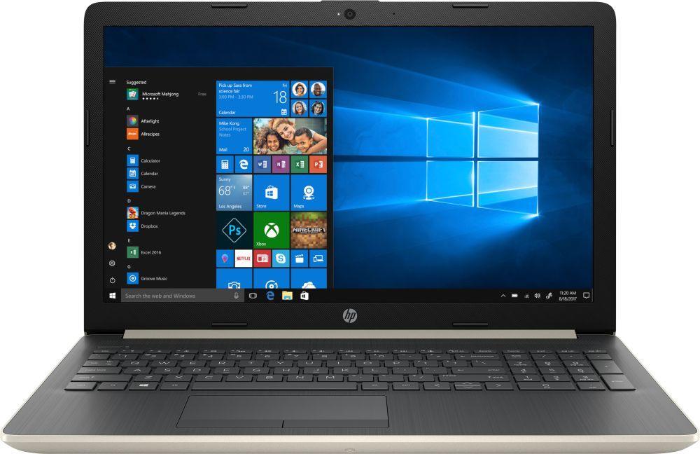 15.6 Ноутбук HP 15-db0064ur 4JX87EA, золотистый hp 17 ak040ur [2cp55ea] black 17 3 hd a6 9220 4gb 500gb amd520 2gb dvdrw w10