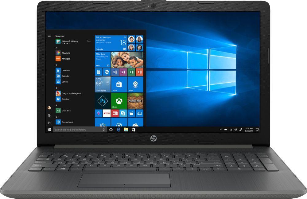 15.6 Ноутбук HP 15-db0060ur 4KA07EA, серый hp 17 ak040ur [2cp55ea] black 17 3 hd a6 9220 4gb 500gb amd520 2gb dvdrw w10