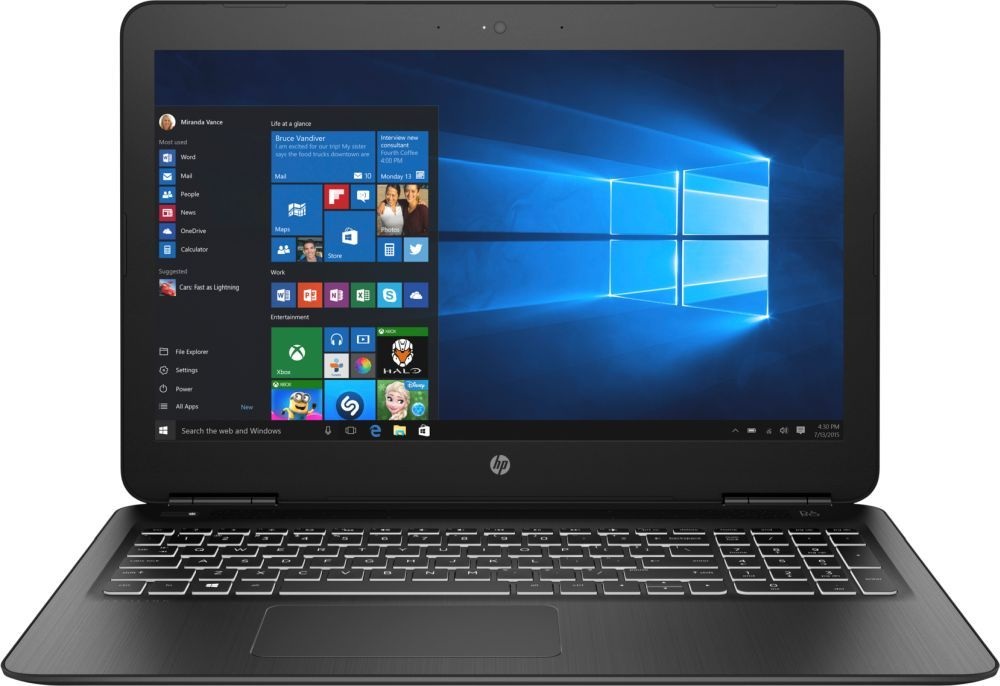 15.6 Ноутбук HP Pavilion 15-bc438ur 4JT92EA, черный ноутбук hp 15 bw591ur 2pw80ea
