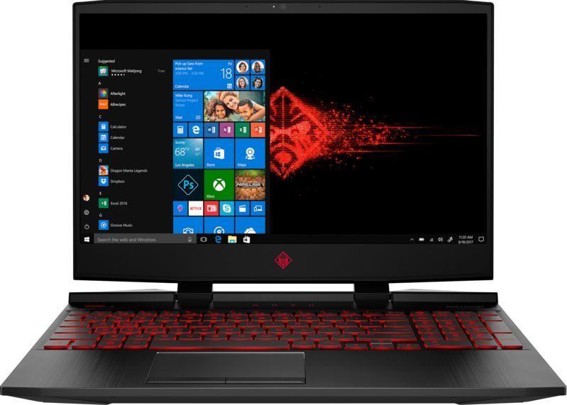 Игровой ноутбук HP Omen 15-dc0010ur, 4HD38EA, 15.6, черный ноутбук hp 15 da0082ur