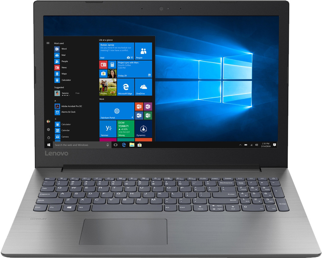 15.6 Ноутбук Lenovo IdeaPad 330-15AST 81D6001QRU, черный ноутбук lenovo ideapad 330 17ich 81fl007kru
