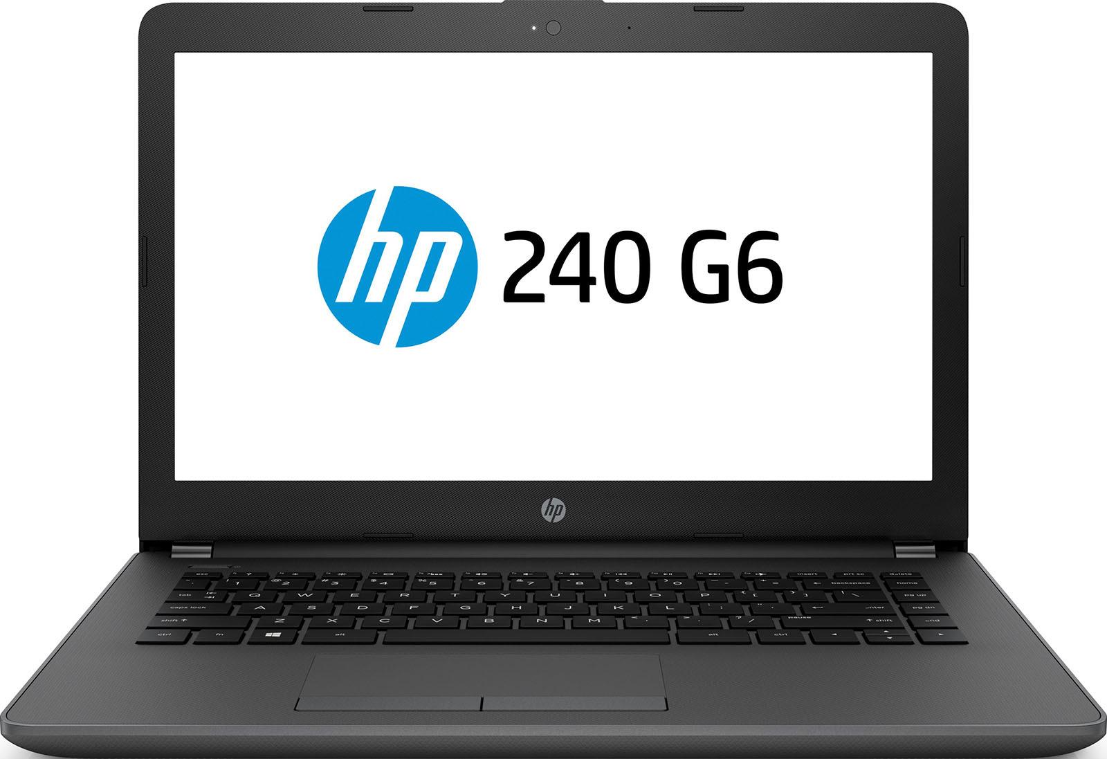 14 Ноутбук HP 240 G6 4QX60EA, черный, темно-серый