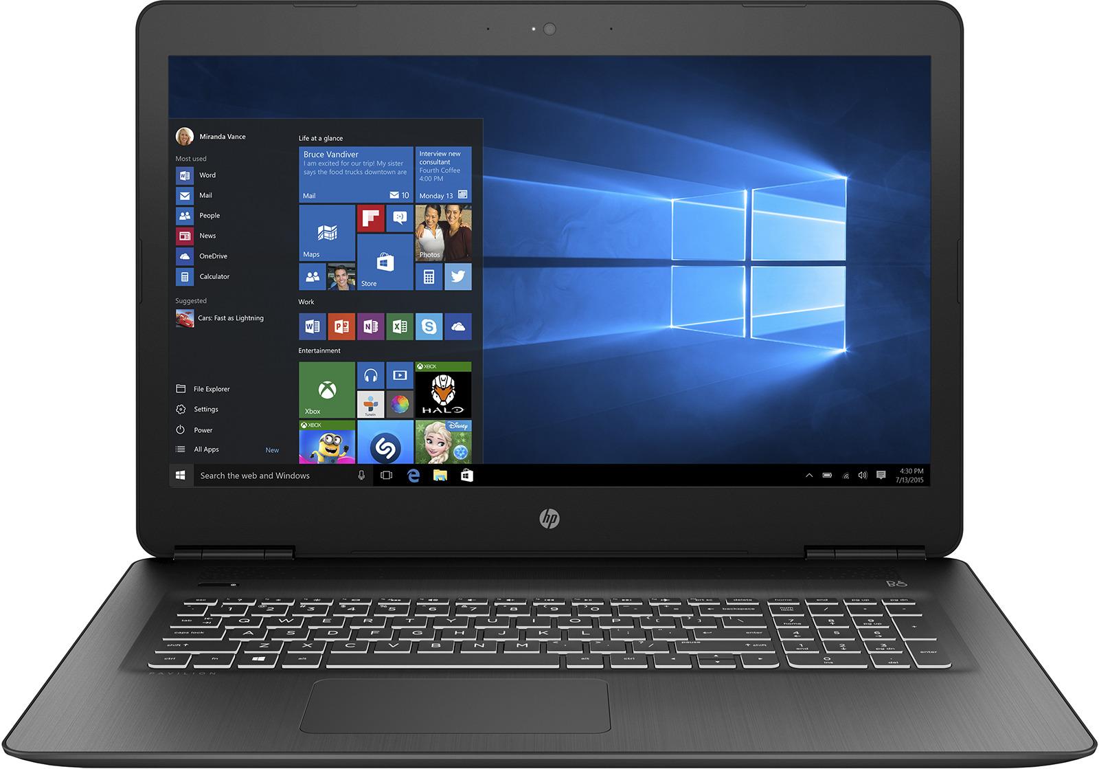 17.3 Игровой ноутбук HP Pavilion Gaming 17-ab312ur 2PQ48EA, черный ноутбук hp pavilion 17 ab403ur 4hf64ea