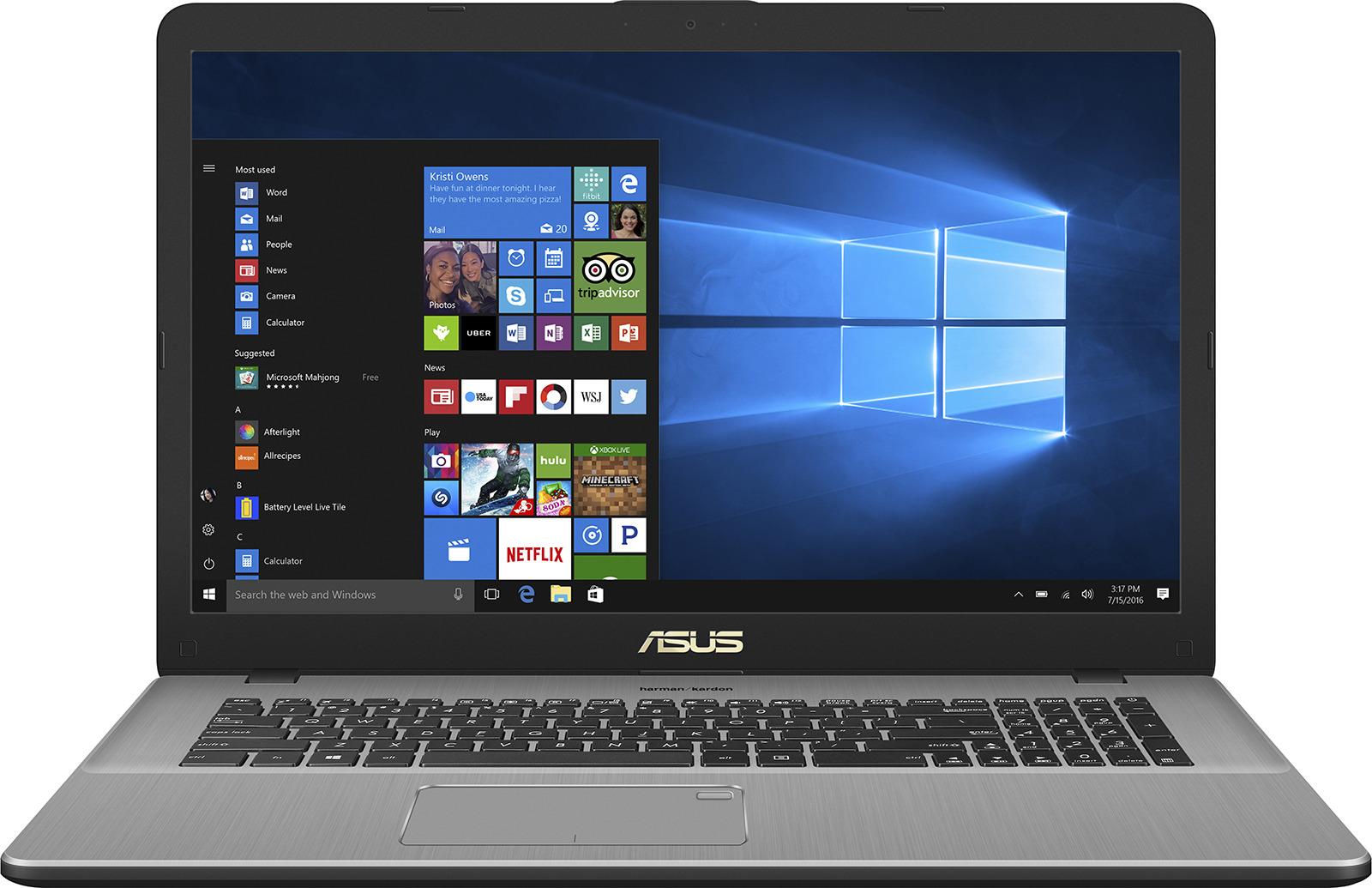 17.3 Ноутбук ASUS VivoBook Pro 17 N705UN 90NB0GV1-M02240, серый ноутбук asus vivobook pro 15 n580gd e4128t 90nb0hx4 m02950
