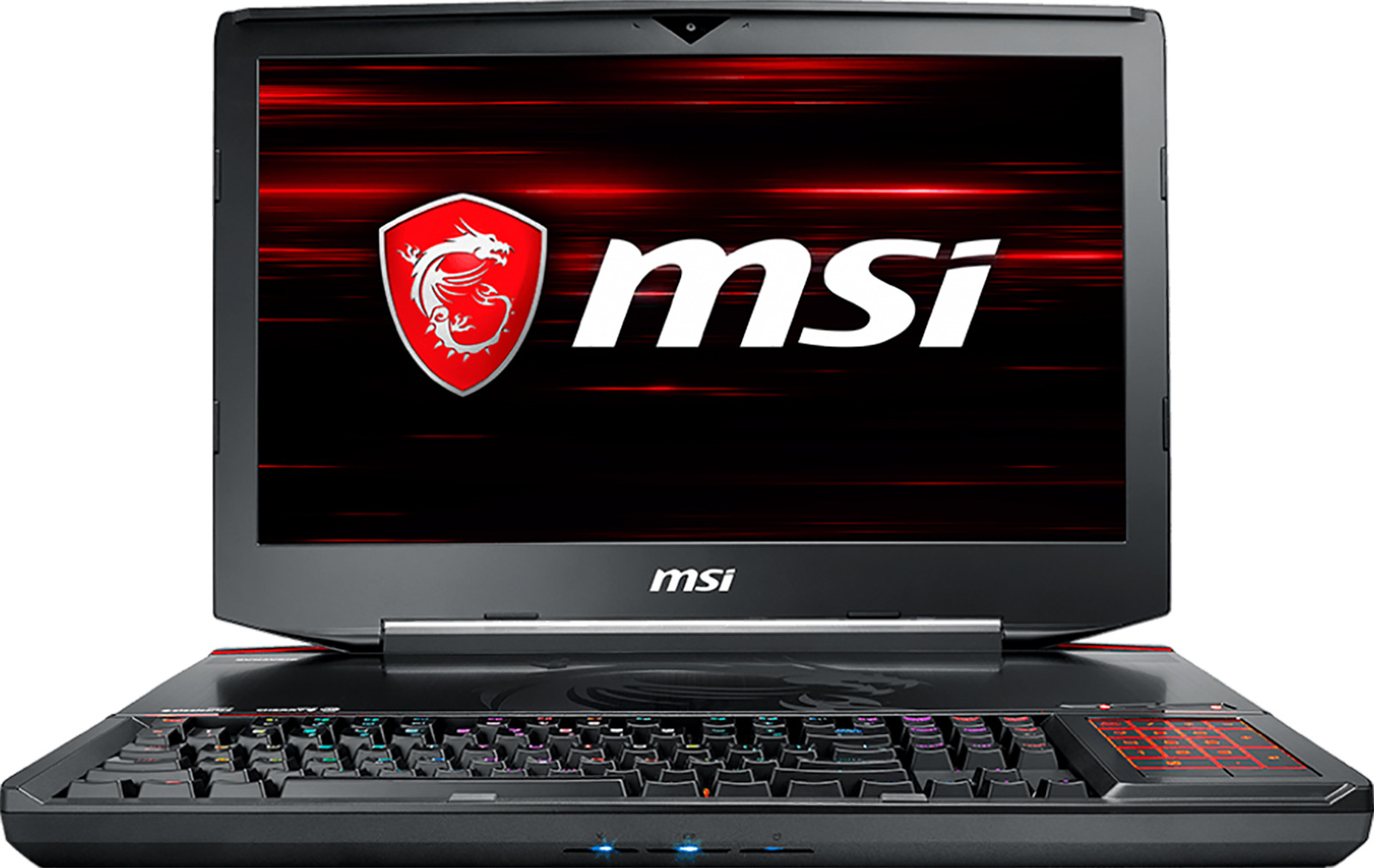Игровой ноутбук MSI GT83 Titan 8RF 9S7-181612-006, черный ноутбук msi gt83 8rg 006ru titan intel core i7 8850h 2600 mhz 18 4 1920х1080 32768mb 512gb hdd blu ray nvidia geforce gtx 1070 х 2 wifi windows 10 home