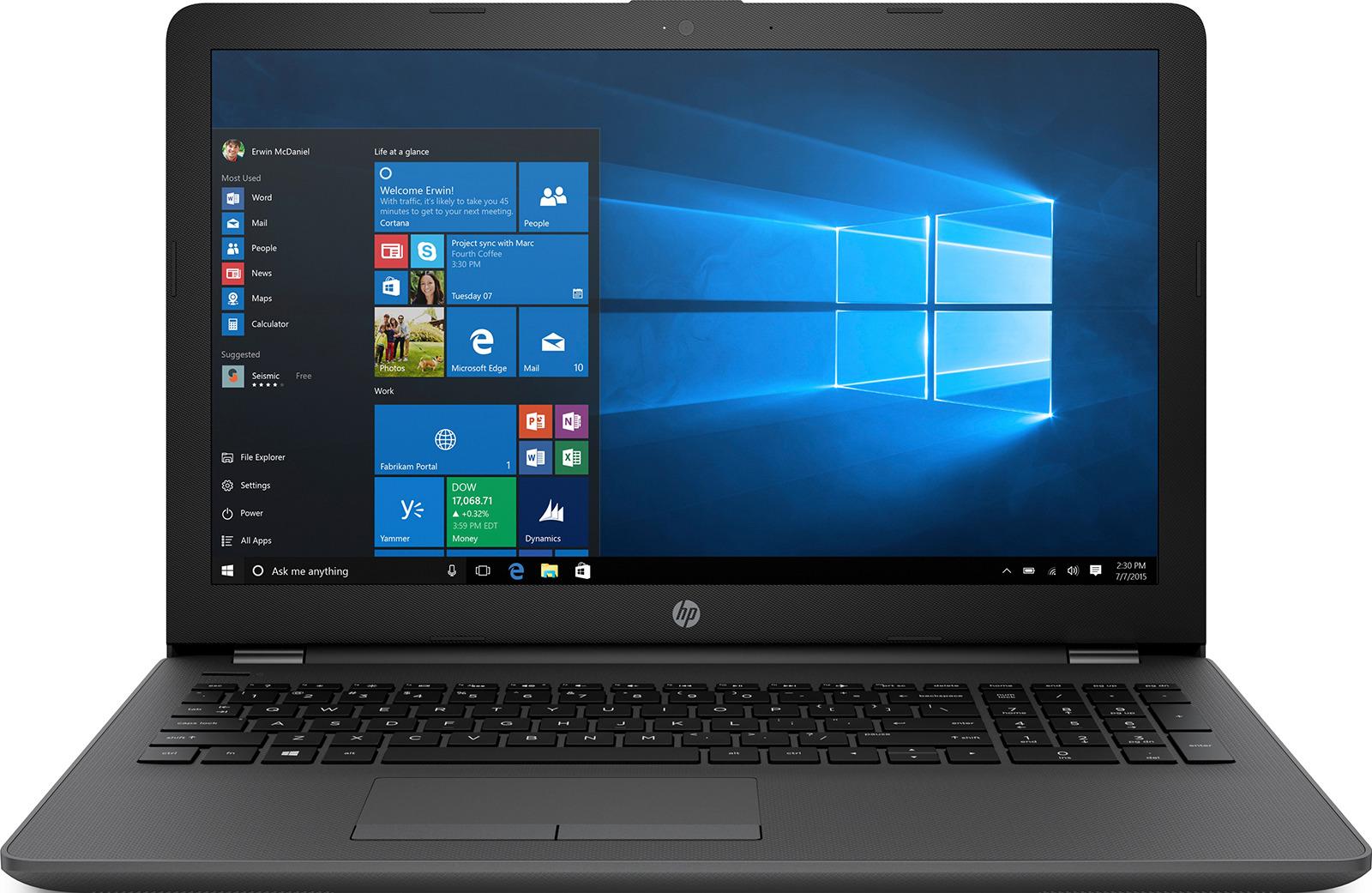15.6 Ноутбук HP 250 G6 3QM25EA, темно-серый ноутбук уходит в спящий режим сам windows 10