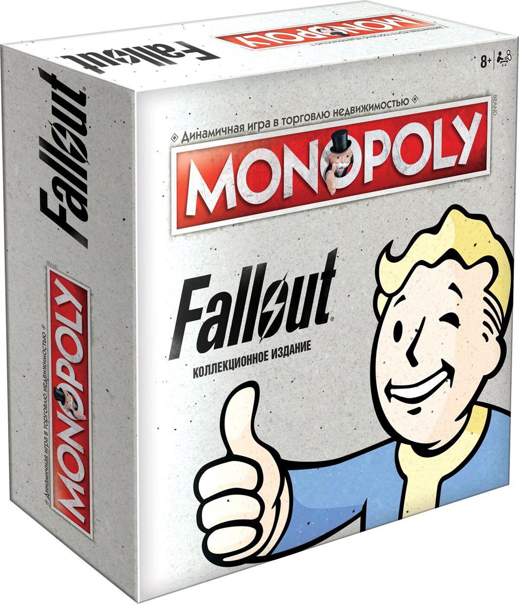 Настольная игра Monopoly Fallout, 503388503388Добро пожаловать в мир Fallout. Смотритель принял решение, что именно вы должны покинуть безопасные границы своего Убежища и исследовать мир, уничтоженный ядерной войной. Хватит ли у вас сил и навыков заново построить цивилизацию, торгуя в Пустоши и стремясь решить судьбу человечества? Удачи и добро пожаловать домой! Особенности игры: 1) новая версия легендарной игры 2) основана на знаменитой вселенной 3) игра полностью на русском. Состав игры 6 фигурок 28 карточек собственника 16 карточек Система S.P.E.C.I.A.L 16 карточек РУКОВОДСТВО ПО ВЫЖИВАНИЮ ДЛЯ ЖИТЕЛЕЙ УБЕЖИЩА 2 кубика 32 дома, которые теперь называются Лачуги 12 отелей, которые теперь называются Убежища 1 пачка денег Fallout правила Рекомендуем!