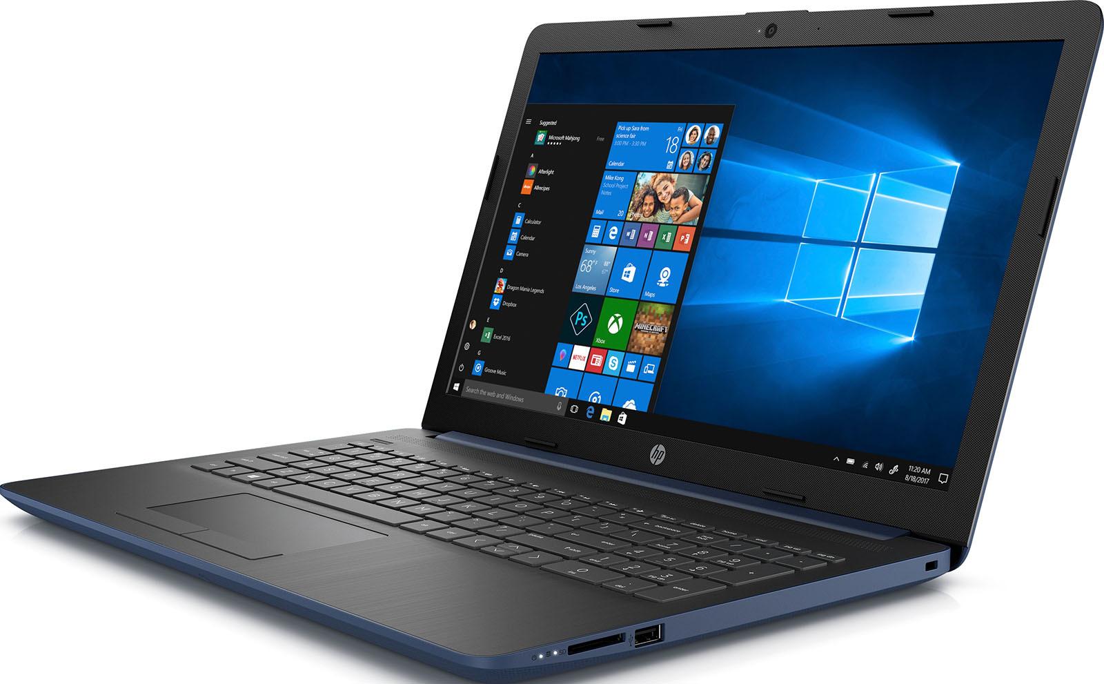 15.6 Ноутбук HP 15-da0058ur 4JR08EA, синий ноутбук синий