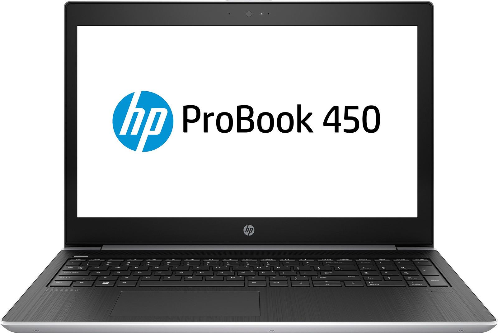 15.6 Ноутбук HP Probook 450 G5 3QM72EA, серебристый легкий ноутбук