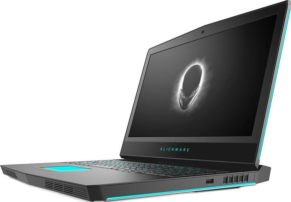 17.3 Игровой ноутбук Dell Alienware 17 R5 17R5-7817, серебристый ноутбук dell alienware 17 r5 a17 7794 intel core i7 8750h 2200 mhz 17 3 1920х1080 16384mb 256gb hdd dvd нет nvidia geforce gtx 1070 wifi windows 10 home
