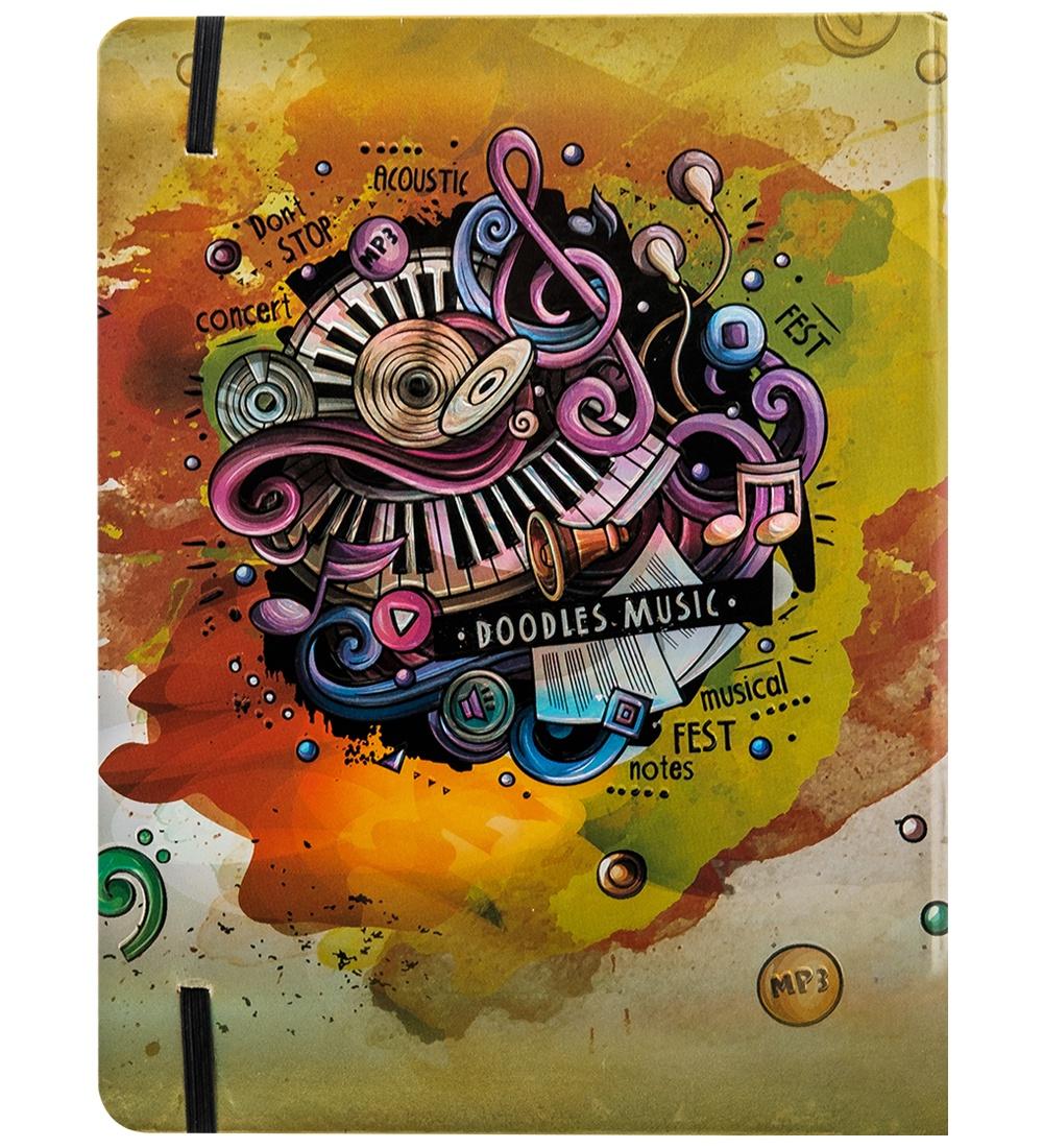 BM-01/2 Блокнот бол. Art West ''Звуки музыки'' 65002, 3D твердая обложка, бежевый