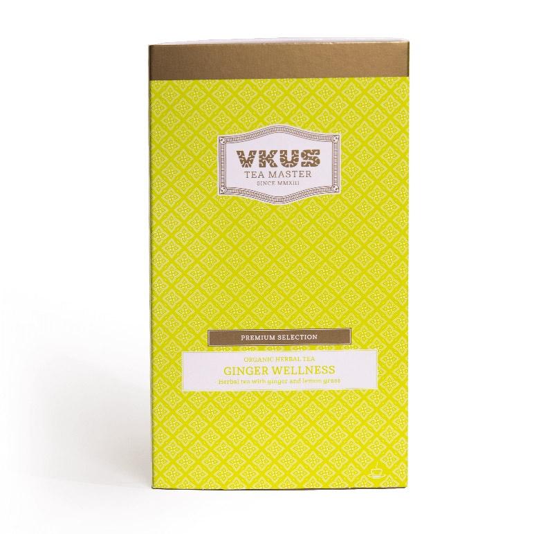 Чай в пакетиках VKUS tea master Органический травяной имбирный чай, пакетик из хлопка, 20шт*2г леди слим имбирный чай для похудения с лимоном 2г 30 фильтр пакеты