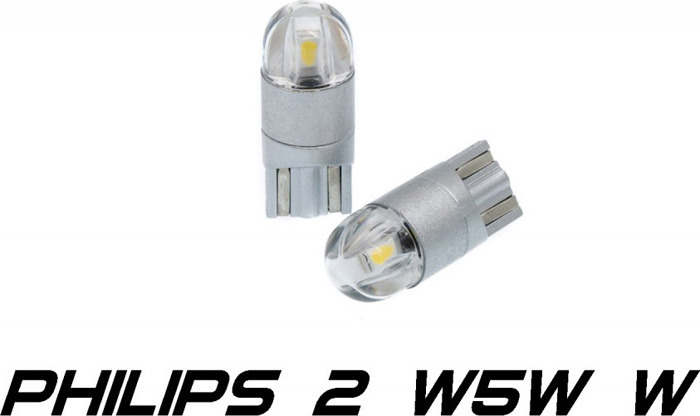 Светодиодная лампа Optima Premium W5W T10 Philips Chip 2, 5100K, 12-24V, W2.1X9.5D, 2 шт автомобильная лампа w5w 5w standart 2 шт philips